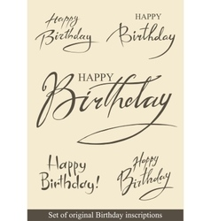 Birthday inscriptions vector