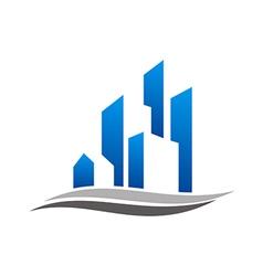 building construction design logo vector image