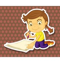 Writing vector image