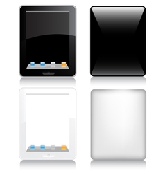 Touchscreen tablet computer vector