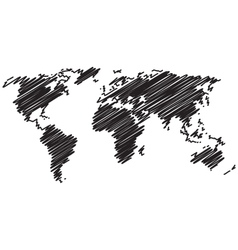 World map line vector