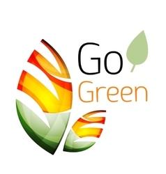 Go green nature concept vector