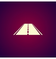 Road icon flat vector