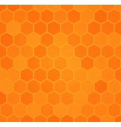Abstract hexagonal honeycomb background vector image vector image