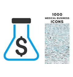 Alchemy Icon with 1000 Medical Business Icons vector image