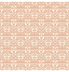 Beige retro flowers vector