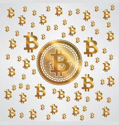 Bitcoin yellow gold pattern vector