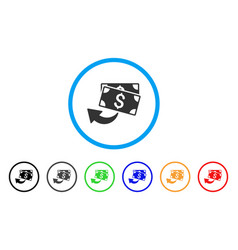Cashback rounded icon vector