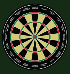 Dartboard work excuses vector