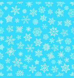 Different snowflake elements seamless pattern vector
