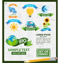 Energetics logos energetics infographics vector