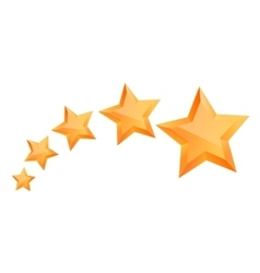 Five 3d gold stars premium the best reward vector