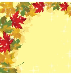 Frame with colored autumn leaves vector