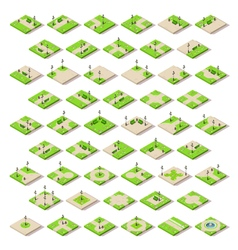 Game set 14 building isometric vector