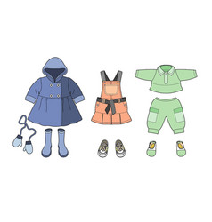 girls clothes set vector image