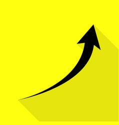 Growing arrow sign black icon with flat style vector