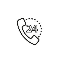 handset 24 of icon vector image