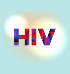 Hiv concept colorful word art vector