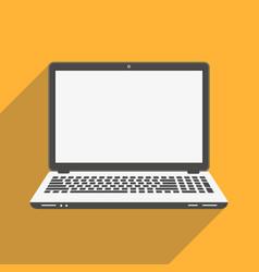 laptop flat icon computer symbol vector image vector image