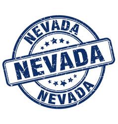 Nevada blue grunge round vintage rubber stamp vector