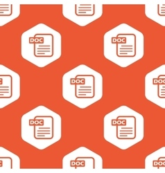 Orange hexagon doc file pattern vector