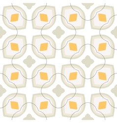 Pattern with bold stylized flowers in 1970s style vector