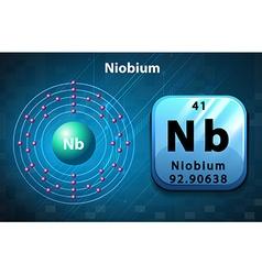 Periodic symbol and diagram of niobium vector