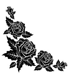 Roses silhouette pattern vector