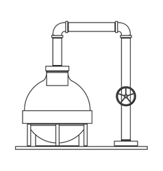 Silhouette with plant pump for oil vector