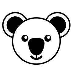 simple line art of a cute koala vector image vector image