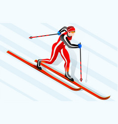 Skier cross-country winter sports vector