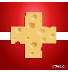 Swiss cheese vector