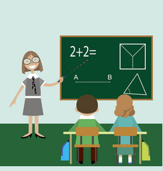 Teacher math children lesson class vector