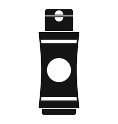 Tube of cream or gel icon simple style vector