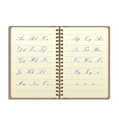 Vintage notebook vector