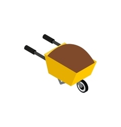 Wheelbarrow icon isometric 3d style vector