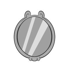 Mirror icon black monochrome style vector image