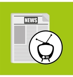 Television news broadcast design vector