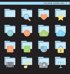 Flat folder icons vol 1 vector