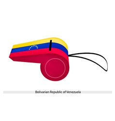 A whistle of bolivarian republic of venezuela vector