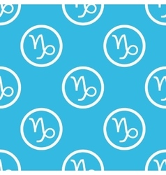 Capricorn sign blue pattern vector