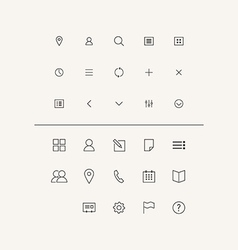 Icons set in flat style vector