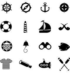 Nautical icons for web vector