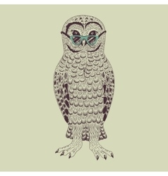 Hipster owl vector