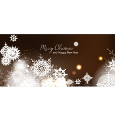 Christmas card new year vector