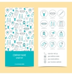Flyer brochure for dental clinic set of vector