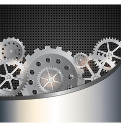 Industrial background with gears vector
