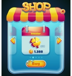 Game shop window for computer app vector