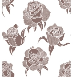 Seamless light background with roses vector