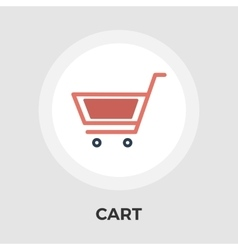 Cart flat icon vector